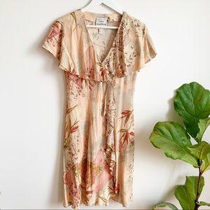 Vintage Joseph Ribkoff Peach Summer Dress Size 8